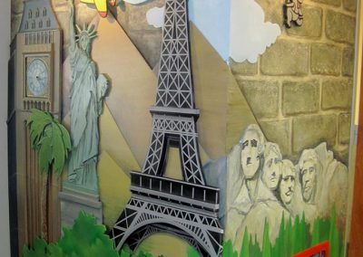 3-D Wall with Mural
