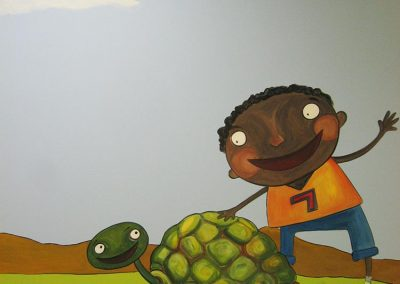 Boy with Turtle