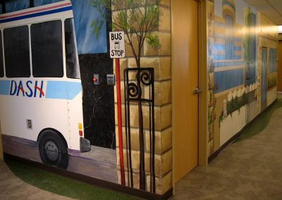 Bus and City Scape Murals