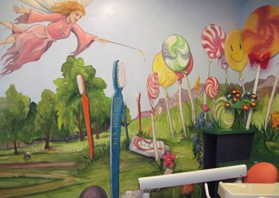 Lolli Pop and Tooth Brush Mural