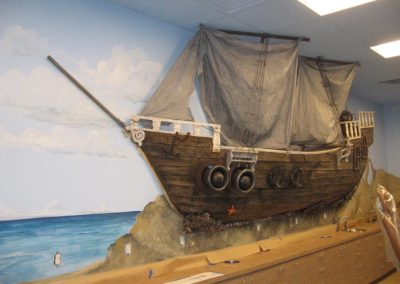Pirate Ship on Wall