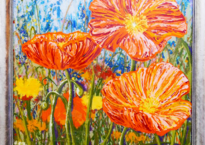 Playful Poppies 45×45