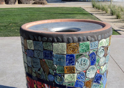 Osuna Park_Trash Receptacle Reclaimed and New Tiles